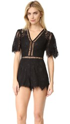 Lovers Friends Josephine Romper Black
