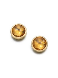 Marco Bicego Jaipur Citrine And 18K Yellow Gold Stud Earrings Gold Citrine