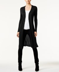 Inc International Concepts Ribbed Duster Cardigan Only At Macy's Black