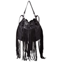 Miss Selfridge Fringe Le Duffle Bag Black
