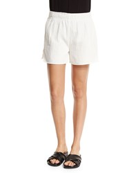 Skin Lee Elastic Waist Shorts White