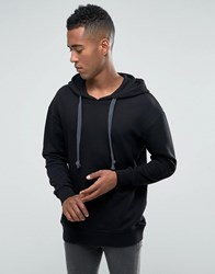 Jack And Jones Hoodie With Drawstring Hood Black