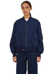 Story Mfg. Seed Bomber Jacket Blue