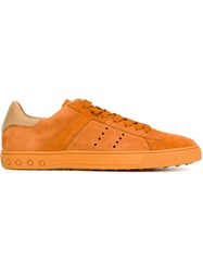 Tod's Low Top Sneakers Yellow And Orange