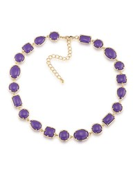 1St And Gorgeous Cabochon Stone Collar Necklace Purple