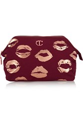 Charlotte Tilbury Printed Cotton Canvas Cosmetics Case