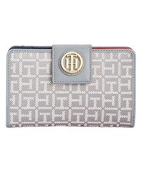 Tommy Hilfiger Th Serif Snap Wallet Grey Tonal