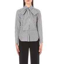 Osman Sanaz Striped Cotton Shirt Black White