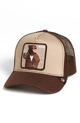 Goorin Bros. 'Animal Farm Lone Star Bear' Trucker Hat Brown