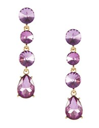 Catherine Stein Headlight Linear Earrings Amethyst