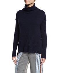 Derek Lam Cashmere Turtleneck Pullover Sweater Navy