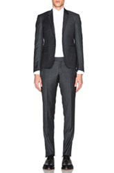 Thom Browne High Armhole Twill Suit In Gray