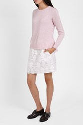 Paul Joe Sister Women S Geometric Lace Mini Skirt Boutique1 White