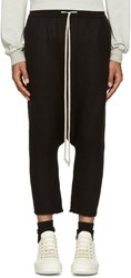 Rick Owens Black Cashmere Lounge Pants