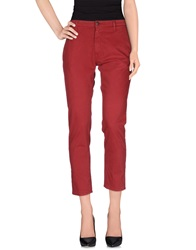 People Casual Pants Red