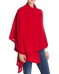 Bloomingdale's C By Cashmere Ruffle Wrap Red