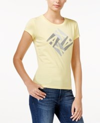 Armani Exchange Logo Graphic T Shirt Buttercup