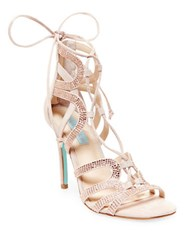 Betsey Johnson Celia Lace Up Sandals Pink