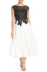 Women's Ted Baker London Lace Bodice Fit And Flare Dress