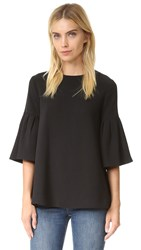 Edit Long Sleeve Flute Top Black