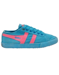 Gola Quota Neon Classic Trainer Shoes Blue