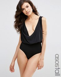 Asos Tall Cowl Neck Swimsuit Black