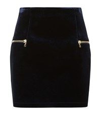 Sandro Janet Velvet Mini Skirt Female Navy