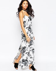 Motel Ebony Maxi Dress Kew Gray Black
