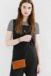 Silence And Noise Silence Noise Leather Wristlet Brown