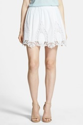 Hinge Lace Trim Skirt White