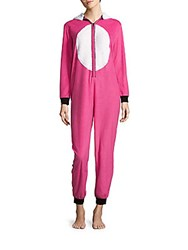 St. Eve Microfleece Hooded Rabbit Jumpsuit Pink