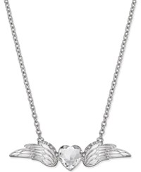 Thalia Sodi Silver Tone Wing Pendant Necklace Only At Macy's