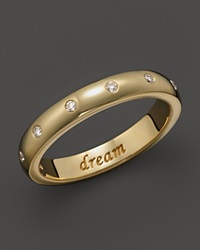 Monica Rich Kosann 18K Yellow Gold Dream Posey Ring With Diamonds Gold White
