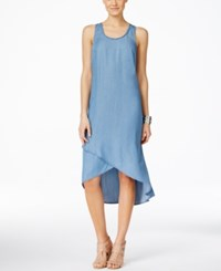 Inc International Concepts Crossover High Low Hem Maxi Dress Only At Macy's Indigo