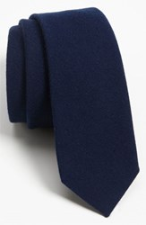 Men's The Tie Bar Solid Wool Blend Skinny Tie Online Only