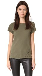Pam And Gela Distressed Tee Olive