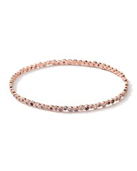 18K Rose Gold Blue Sapphire Starlet Bangle Ippolita Pink
