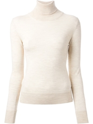 Ermanno Scervino Turtle Neck Sweater Nude And Neutrals