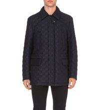 Brioni Quilted Silk Shell Jacket Navy