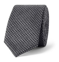 Thom Browne 5.5Cm Puppytooth Wool Tie Gray