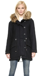 Spiewak Wool Parka With Faux Fur Trim Salute