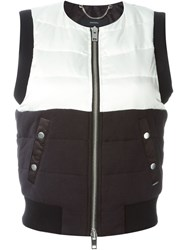 Diesel Colour Block Padded Gilet Black