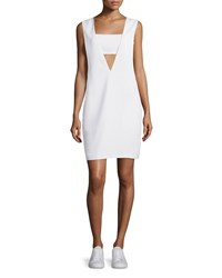 T By Alexander Wang Bandeau Crepe Shift Dress Off White Size X Small