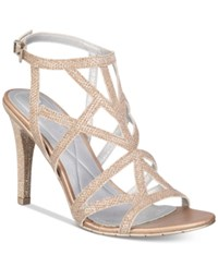 Kenneth Cole Reaction Women's Smash Ing Strappy Dress Sandals Women's Shoes Champagne