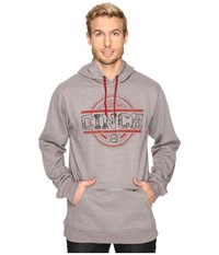Cinch 60 40 Hoodie W Zipper Pocket Heathered Grey Men's Sweatshirt Gray