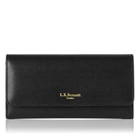 Lk Bennett Sonia Saffiano Leather Wallet Black