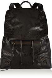 Balenciaga Classic Traveller Small Textured Leather Backpack