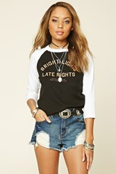 Forever 21 Bright Lights Baseball Tee