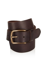John Varvatos Star Usa Leather Belt Chocolate
