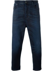 Diesel Black Gold Cropped Jeans Blue